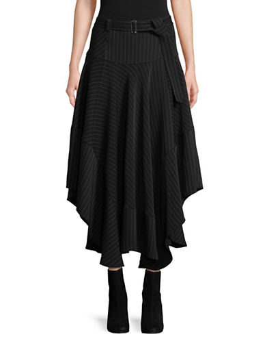 Calvin Klein Belted Hi-Lo Skirt-BLACK-14