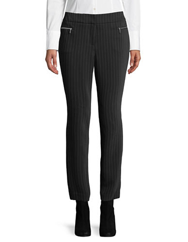Calvin Klein High-Waist Straight Leg Pants-BLACK-6