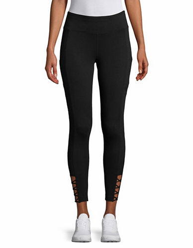 Calvin Klein Performance Mid-Rise Leggings-BLACK-Large