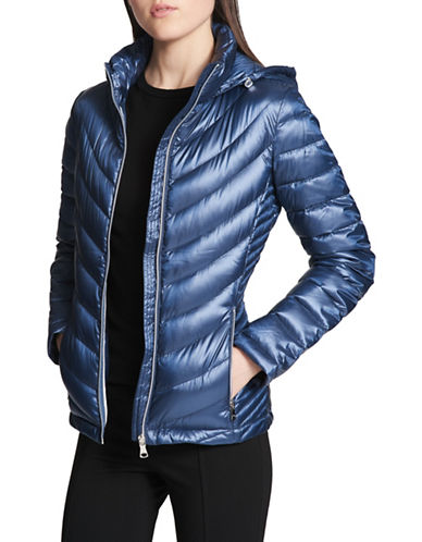 Calvin Klein Packable Hooded Jacket-BLUE-Large