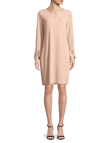 Calvin Klein Triple Flare-Sleeve Dress-PINK-Small