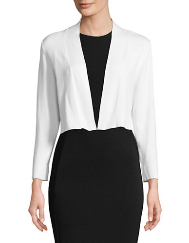 Calvin Klein Open Front Short Shrug-WHITE-Medium