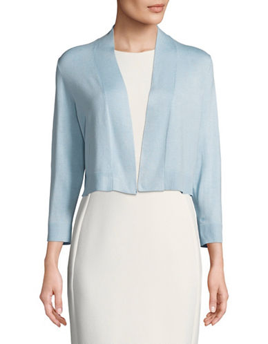 Calvin Klein Open Front Short Shrug-BLUE-Medium