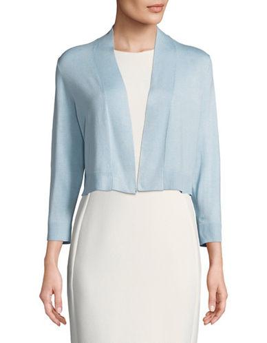 Calvin Klein Open Front Short Shrug-BLUE-Small