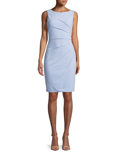 Calvin Klein Sleeveless Starburst Crepe Sheath Dress-BLUE-6