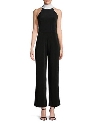Calvin Klein Halter Maxi Jumpsuit-BLACK-14