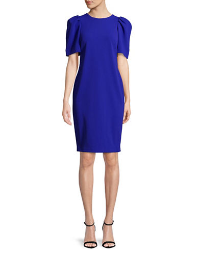 Calvin Klein Puff-Shoulder Sheath Dress-BLUE-2