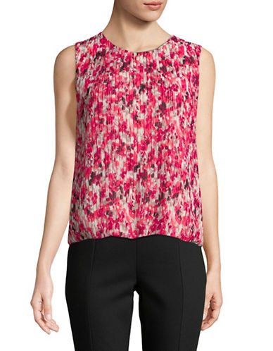 Calvin Klein Floral Sleeveless Top-RED-X-Large