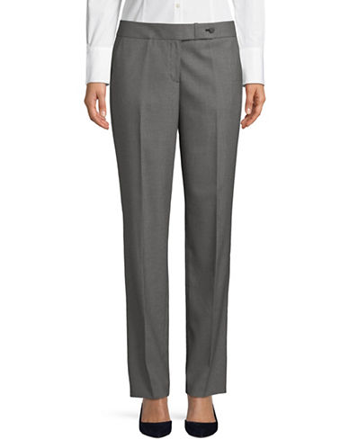 Calvin Klein Classic Slim Leg Checked Pants-GREY-10