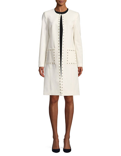 Calvin Klein Studded Open Topper Jacket-CREAM-8