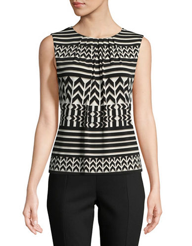 Calvin Klein Aztec Sleeveless Top-BEIGE/BLACK-Medium