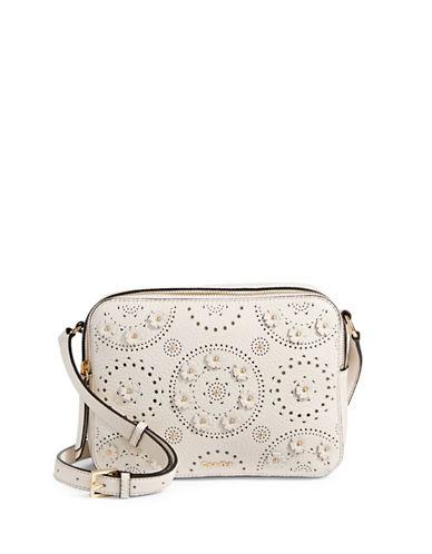 Calvin Klein Avery Leather Camera Bag-WHITE-One Size