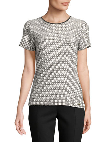 Calvin Klein Printed Short-Sleeve Tee-CREAM-Medium