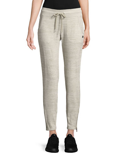 Calvin Klein Performance Zip Cuff Jogger Pants-SAND-Medium