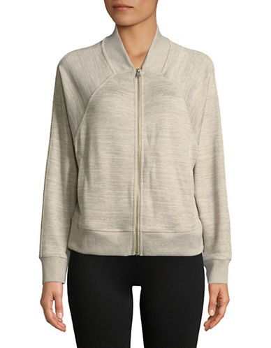 Calvin Klein Performance Zip Front Boxy Bomber-SAND-X-Large