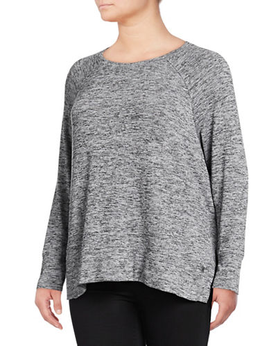 Calvin Klein Performance Plus Plus Dolman-Sleeve Pullover-GREY-1X