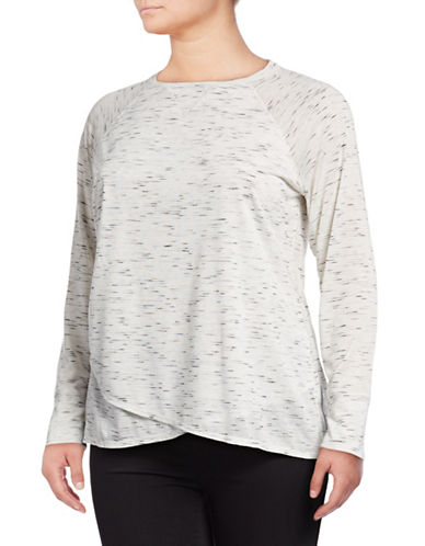 Calvin Klein Performance Plus Plus Crossover Long-Sleeve Tee-GREY-2X