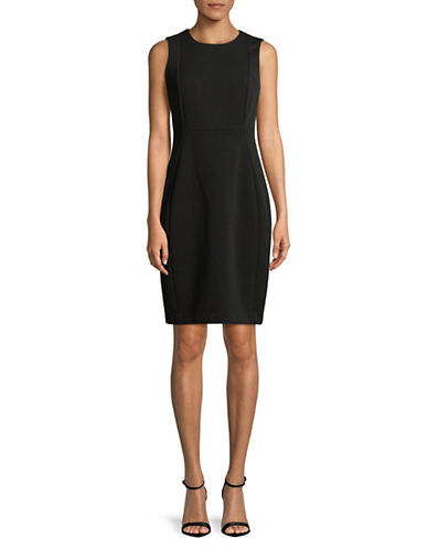Calvin Klein Squiggle Sheath Dress-BLACK-4