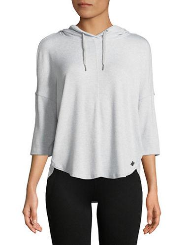 Calvin Klein Performance Three-Quarter Sleeve Hoodie-GREY-X-Large
