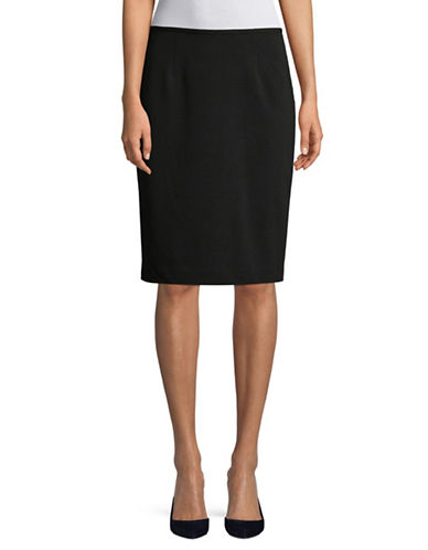 Calvin Klein Classic Pencil Skirt-BLACK-12