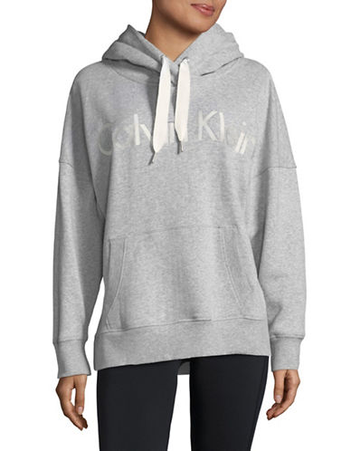Calvin Klein Performance Heathered Logo Hoodie-GREY-Large 89751854_GREY_Large