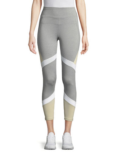 Calvin Klein Performance High Waisted Panel Leggings-GREY/SAND-Large 89746468_GREY/SAND_Large