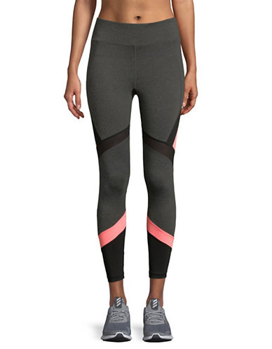 Calvin Klein Performance High-Waist Leggings-GREY/PINK-X-Large