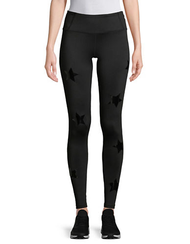 Calvin Klein Performance Star Print Leggings-BLACK-Large 89713105_BLACK_Large