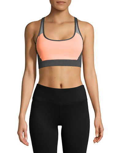 Calvin Klein Performance Crisscross Back Sports Bra-ORANGE-X-Large