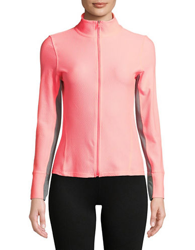 Calvin Klein Performance Mesh Full-Zip Jacket-CORAL-Large