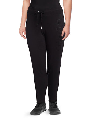 Calvin Klein Performance Plus Plus Slim-Fit Jogger Pants-BLACK-1X