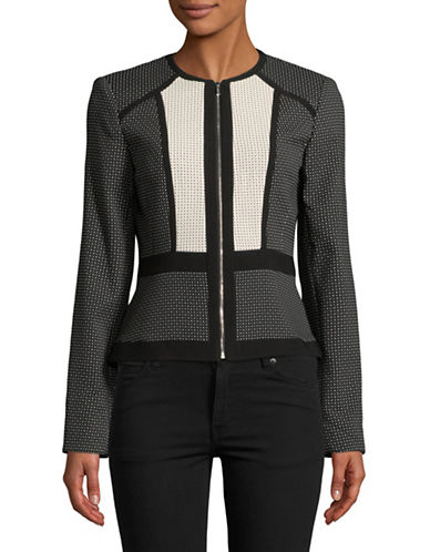 Calvin Klein Zip Front Piped Jacket-BLACK-14