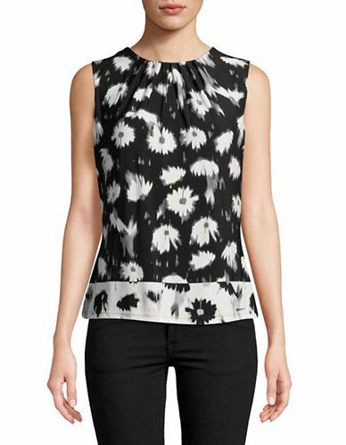 Calvin Klein Floral Sleeveless Camisole-BLACK/CREAM-Small