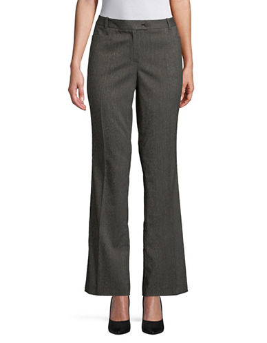 Calvin Klein Herringbone Dress Pants-BLACK-8