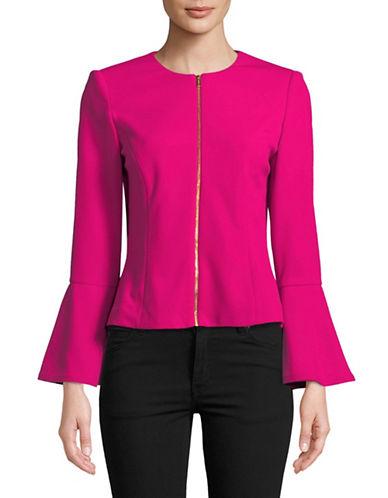 Calvin Klein Zip Bell Sleeve Jacket-VIVACIOUS-10