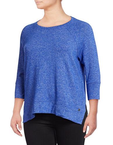 Calvin Klein Performance Plus Dolman-Sleeve Pullover-BLUE-1X