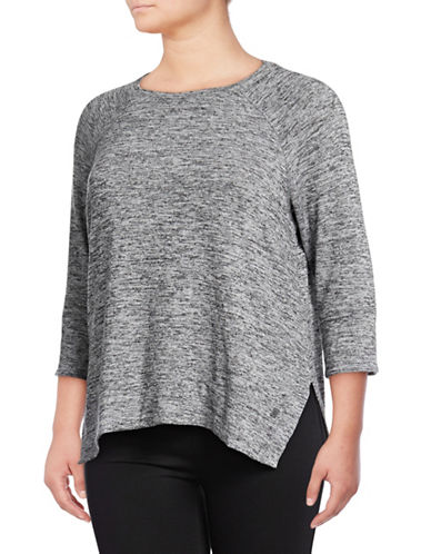 Calvin Klein Performance Plus Dolman-Sleeve Pullover-GREY-1X 89765081_GREY_1X