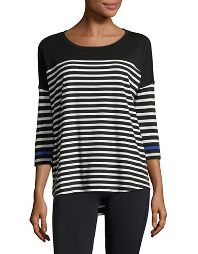 Calvin Klein Performance Striped Dolman Stretch T-Shirt-BLACK-Small 89983986_BLACK_Small