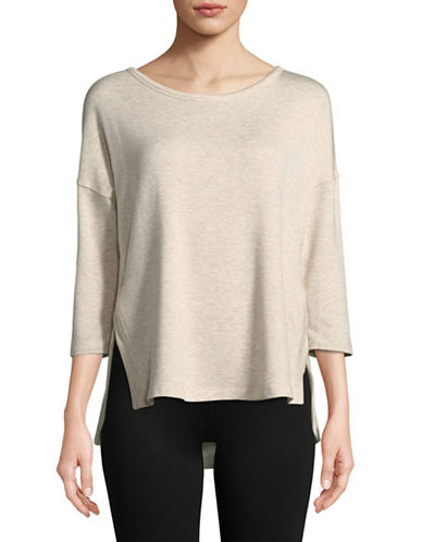 Calvin Klein Performance Three-Quarter Sleeve Pullover-SAND-Large