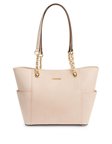 Image result for CALVIN KLEIN Chain-Strap Metallic Tote