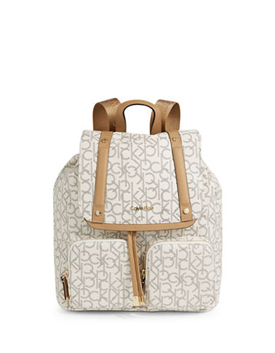 Calvin Klein Mono Backpack-CASHEW-One Size
