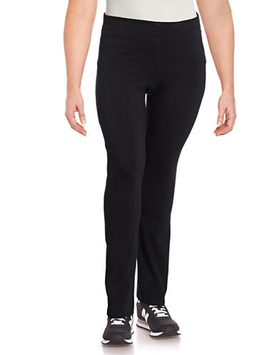 Calvin Klein Performance Plus High-Waist Straight-Leg Pants-BLACK-3X