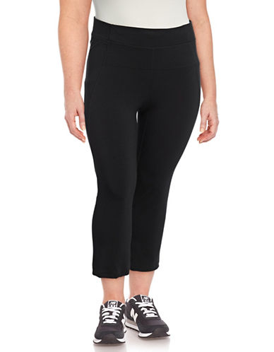 Calvin Klein Performance Plus High-Waist Cropped Pants-BLACK-2X