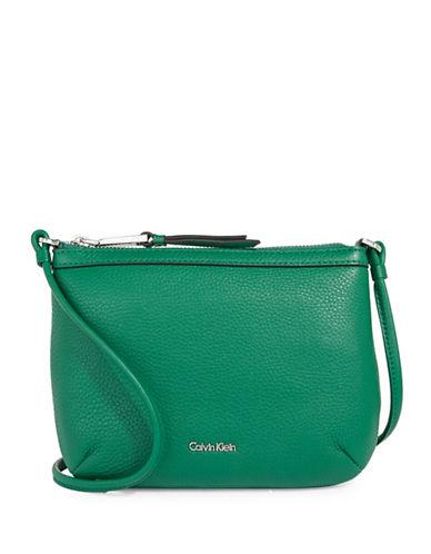 Calvin Klein Pebble Crossbody Bag-GREEN-One Size