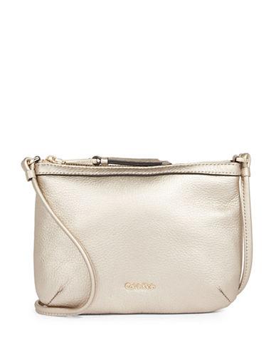 Calvin Klein Pebble Crossbody Bag-BEIGE-One Size