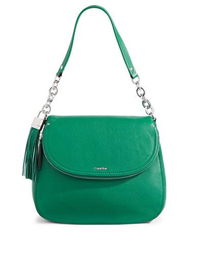 Calvin Klein Flap Shoulder Bag-TURQUISE-One Size