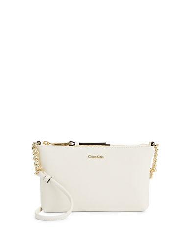 Calvin Klein Hayden Saffiano Crossbody-WHITE-One Size
