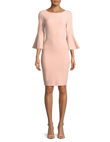 Calvin Klein Bell Sleeve Sheath Dress-PINK-6