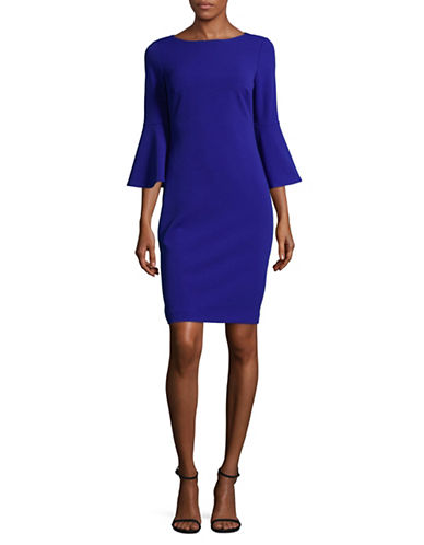 Calvin Klein Bell Sleeve Sheath Dress-BLUE-14