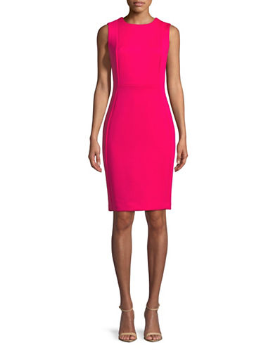 Calvin Klein Sleeveless Sheath Dress-LIPSTICK-14